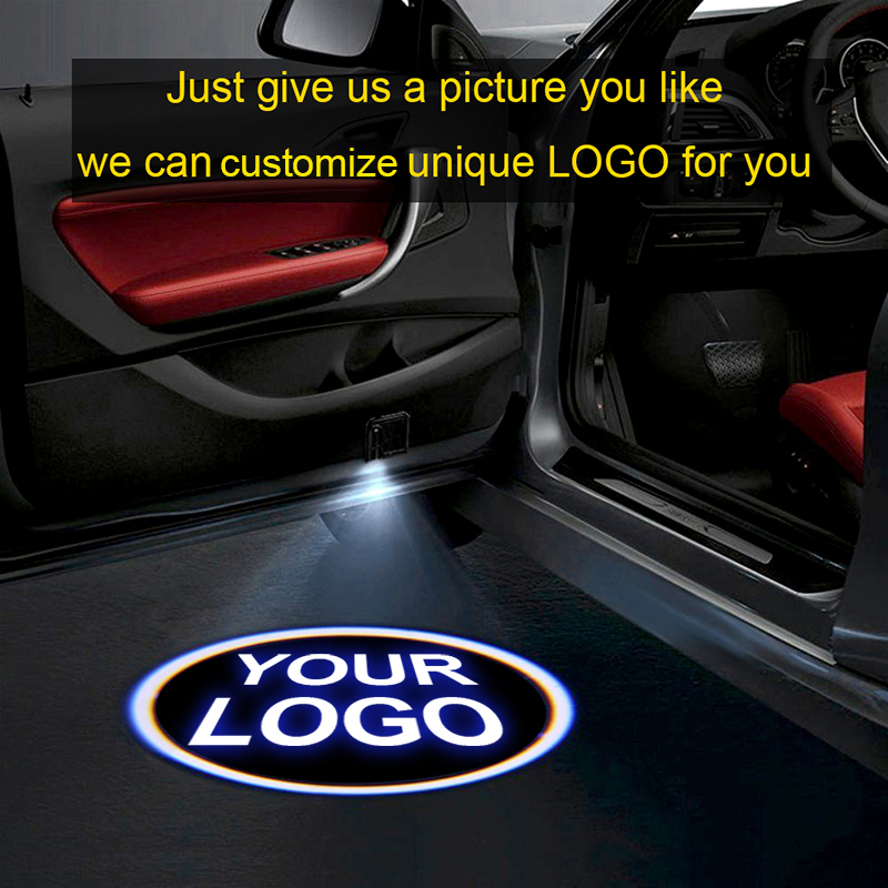 1pcsCustom logo projector LED door welcome light shadow car logo light for all models For Volkswagen BMW Nissanoyota Ford-in Decorative Lamp from Automobiles & Motorcycles