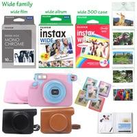 Оригинальный Для Fujifilm Instax Wide пленка глянцевая фотобумага белый/цвет радуги/монохромный для цифровой фотокамеры Fuji мгновенный фотоаппарат ...
