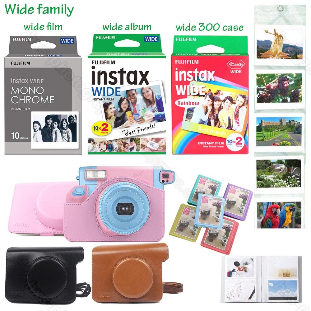 Original Fujifilm Instax Wide Instax película instantánea Blanco/Arco Iris/monocromo para Fuji Instant Polaroid Cámara 300/100/210/200/500AF