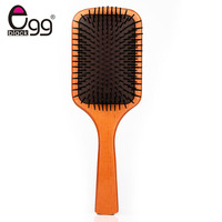Hair Care Wooden Spa Massage Comb Wooden Paddle Pointed Handle Teeth Hair Brush Antistatic Cushion Comb