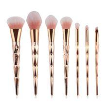 7Pcs Diamond Makeup Brushes Set Powder Foundation Eye Shadow Blush Ble