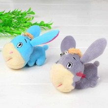 """1pcs Creative Cute Little Donkey Plush Toys Good Quality Dolls As Key or phone """" Chains A Special Pendant Girts for Kids"""