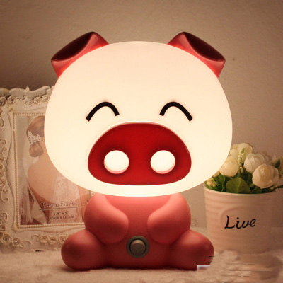 1pcs pretty Cute Cartoon animal night light,Kids Bed Desk Table Lamp Night Sleeping led night lamp Chrismas Gift