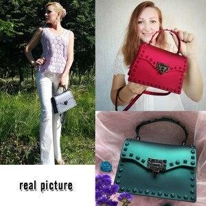 Image 5 - Jelly Bags For Women Solid Flap Fashion Messenger Bag Rivet Women Shoulder Bag Small Big Lady Handbags High Quality Bags Womens