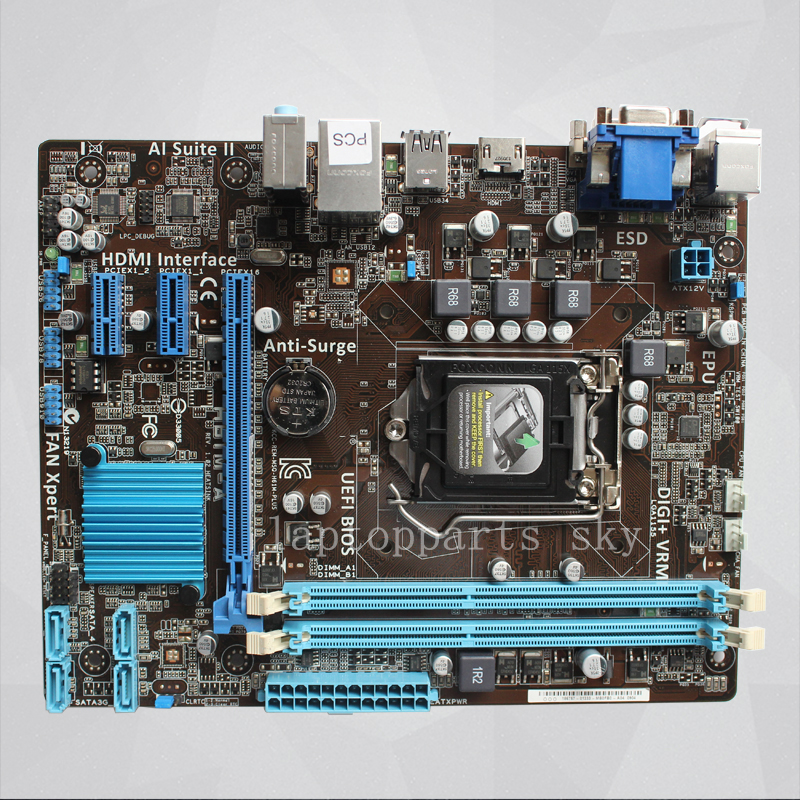 For ASUS H61M-A motherboard LGA 1155 DDR3 Support I3 I5 I7 processor mainboard free shipping