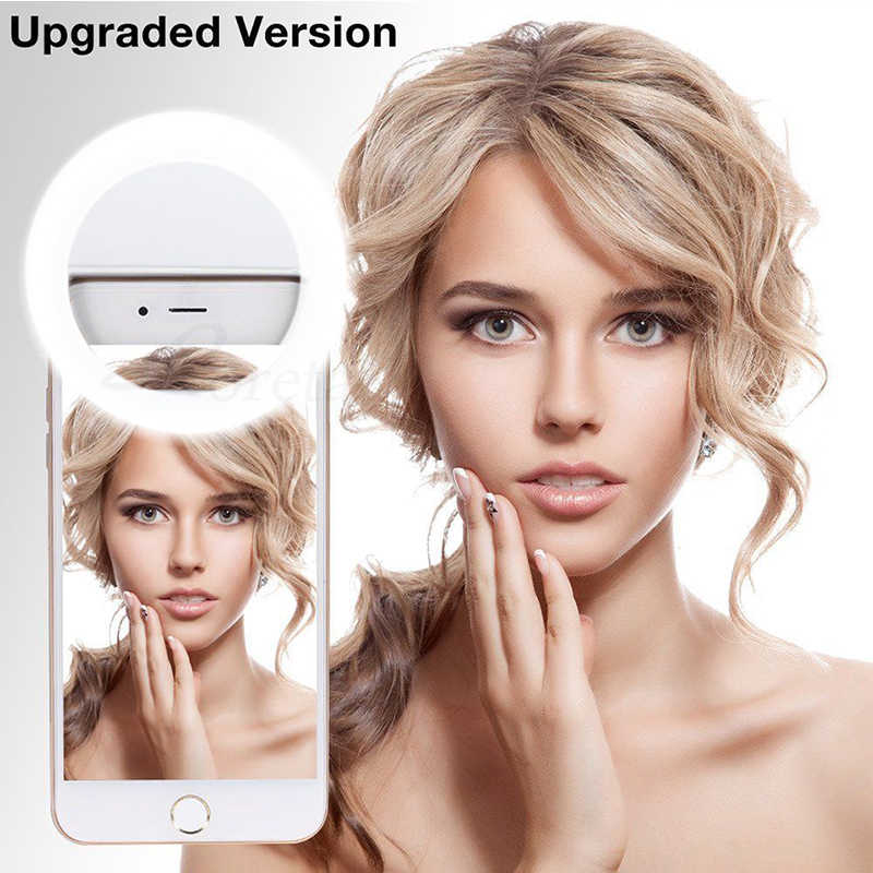 Новый USB зарядка селфи кольцо свет портативный светодиодной вспышкой камера телефон фотографии повышения фотографии для смартфонов iPhone samsung