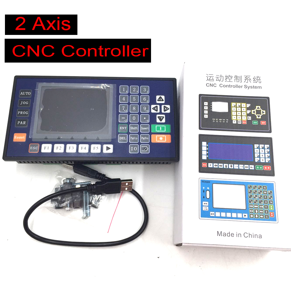 NEW CNC Controller 2 Axis 3.5inch TFT 16DI 8DO With USB-PC RS485 Communication Matched Servo Stepper for Lathe Milling Machine new cnc lathe 4 axis controller 3 5inch tft rs485 communication matching servo stepper cnc use for milling machine