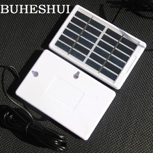 BUHESHUI 1,2 Вт 6 в солнечная панель с кабелем DC5521 3 м поликристаллическая солнечная батарея зарядное устройство для 3,7 в батарея светильник 130*84 мм