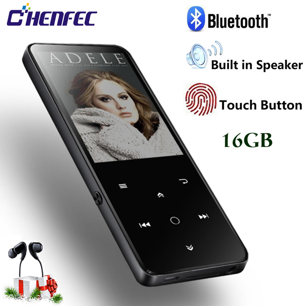 2018 Bluetooth MP3 Player Built in Speaker 16G HiFI Lossless Sound Music Player 2 4in HD