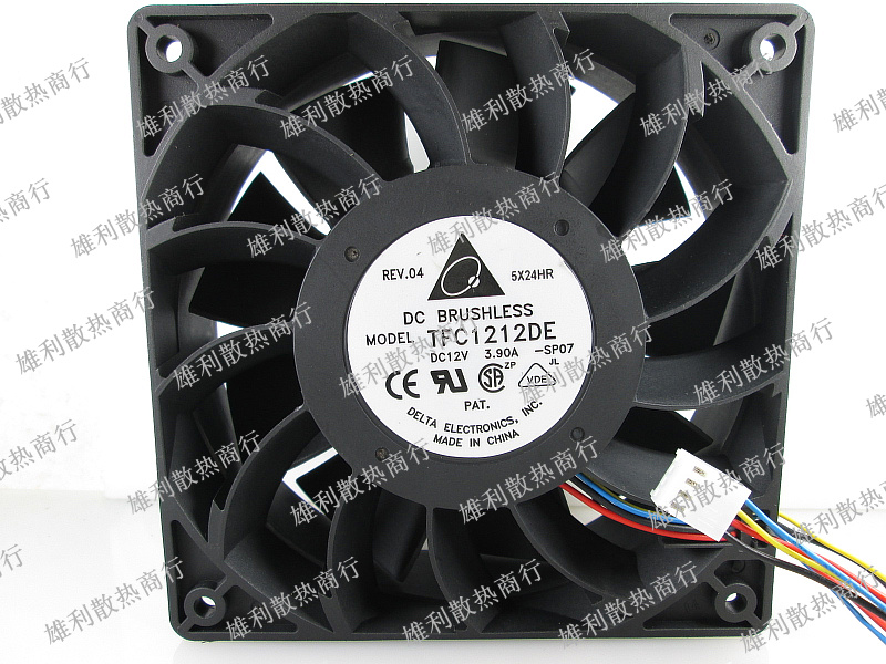Free delivery.TFC1212DE 12V 3.90A 12038 12CM 4-wire violent booster fan free shipping for delta ffr1212dhe sp02 dc 12v 6 3a 120x120x38mm 4 wire car booster fan