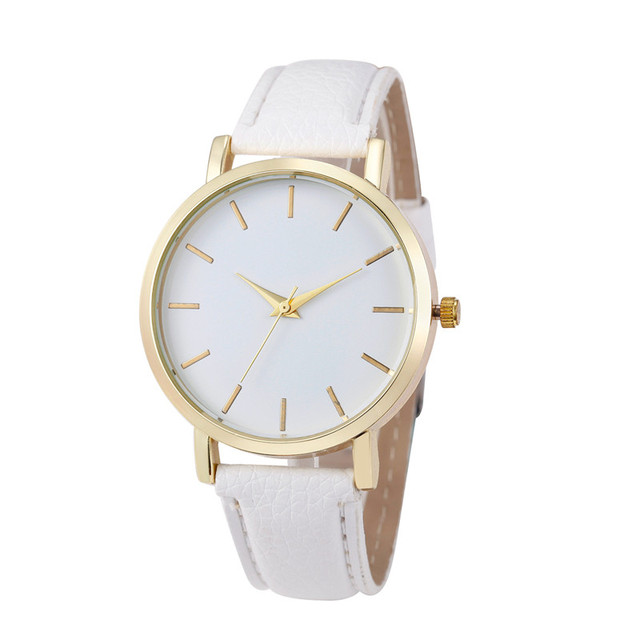 Women's Watches Top Brand Luxury Quartz Watch Men Women Famous Brand Gold Leathe