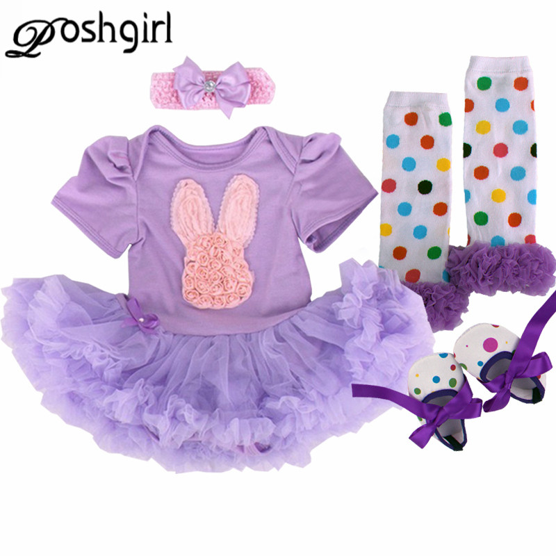 First Birthday Girl Tutu Set Newborn Clothes Ruffle Baby Clothes Baby Girl Christening Easter Party Dress Bebe bebes Rabbit Set cupcake birthday outfits leopard baby romper dress headband shoes infant lace tutu set roupa bebe menina winter girl clothes