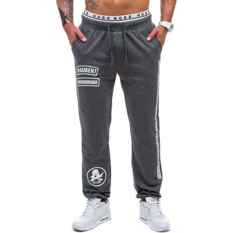 2017 New Jogger Pants Men Cotton Printed letters Sweatpants Fitted Sweat Pants Men Active Casual Trousers Track Pants Men