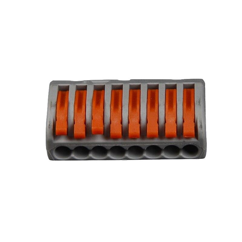 100 pièces Type WAGO connecteur de câblage de fil Compact bornier de conducteur Mini connecteur rapide connecteurs de fil de conducteur enfichable