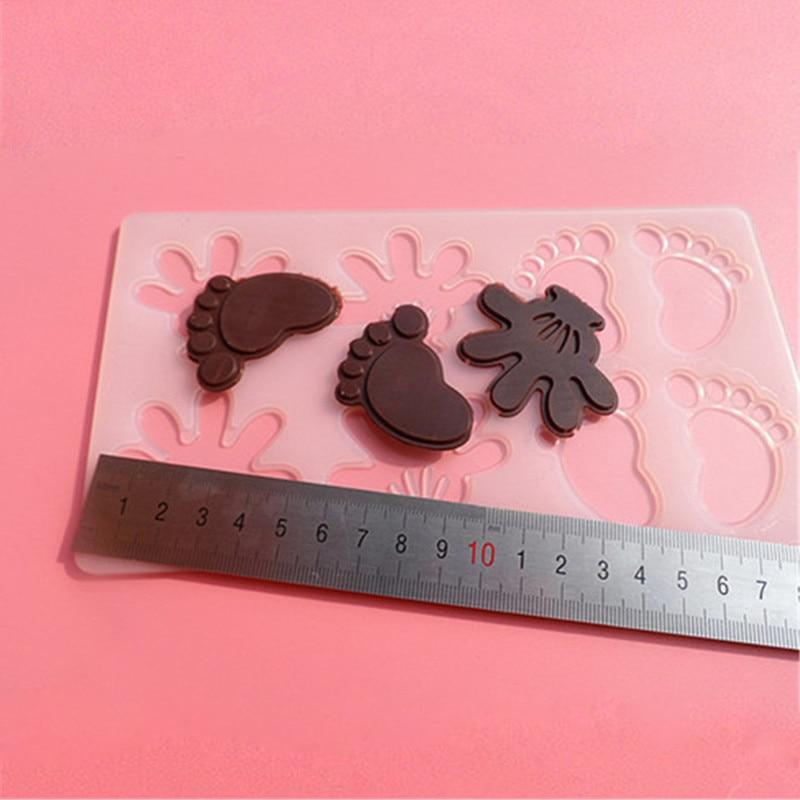 İsti kiçik əllər ayaq şokoladlı konfet Jello 3D silikon kalıp - Mətbəx, yemək otağı və barı - Fotoqrafiya 6
