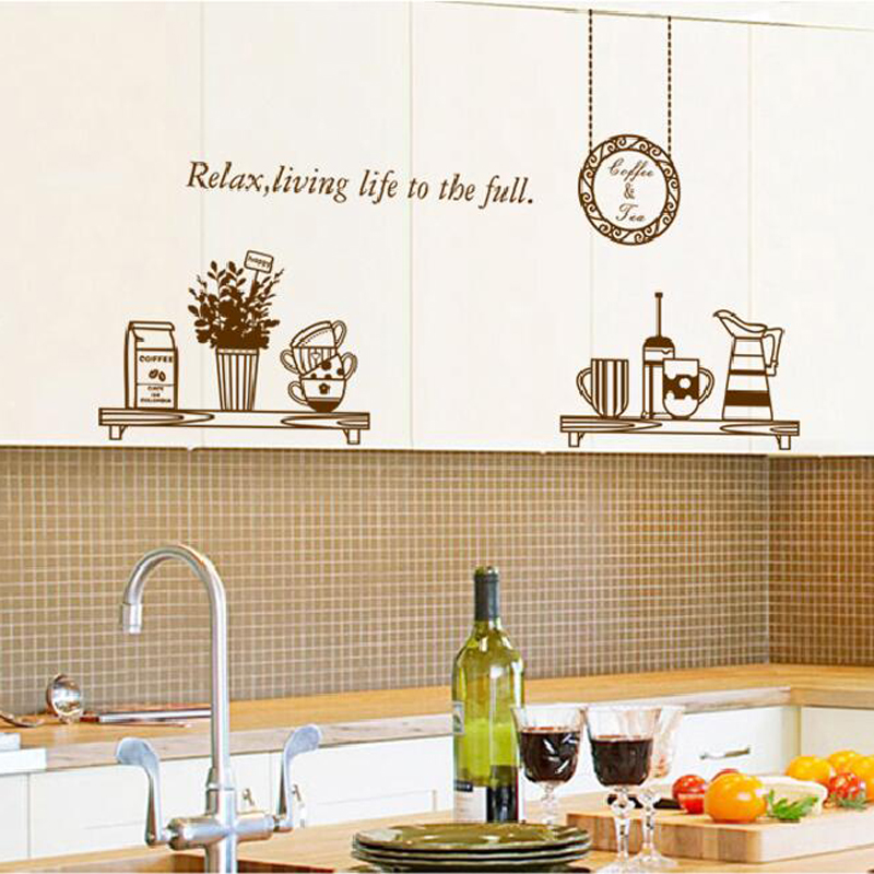 Waterproof stickers for kitchen removable home decorations for wall adhesive livng room wall pictures in Wall Stickers from Home Garden