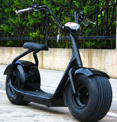 Electric Scooter Citycoco E-Bike Fat Vacuum Rubber  wide 9Inch Tire 1000W 60V12Ah Lithium Battery Bluetooth connection upgraded