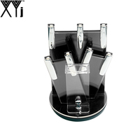 XYj Three Colors Kitchen Ceramic Knife Holder Home Kitchen Knife Stand Cooking Knife Block For 3