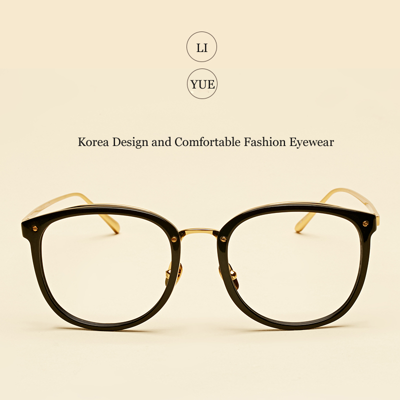 0bf59a692b LIYUE 2017 New Women s optical glasses frame Fashion Brand designer women  eyeglasses vintage Spectacles Frame eyewear Round-in Eyewear Frames from  Women s ...