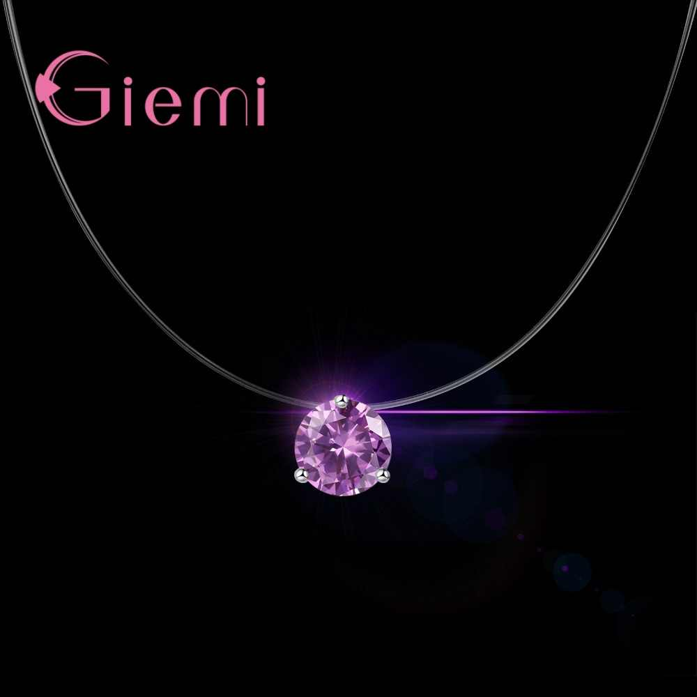 3 Claw Super Shining คริสตัลออสเตรีย Cubic Zirconia จี้เงินแท้ 925 จี้เงิน NecklaceFor ผู้หญิงเครื่องประดับ