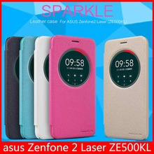 Оригинальный Nillkin Sparkle Leather Case для Asus Zenfone 2 Laser ZE500KL 5.0 дюймов + registered Air Mail