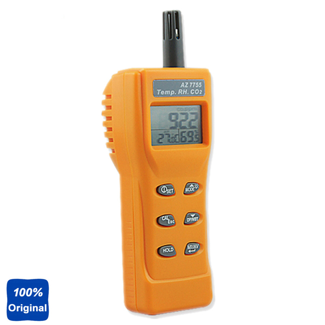 Handheld CO2 Monitor Carbon Dioxide Gas Detector with Temperature Humidity AZ7755