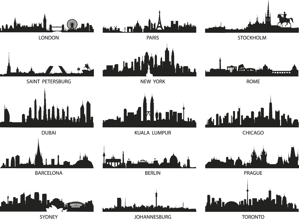 Aliexpress Buy 3d City Landscape Wall Sticker Modern City Wall