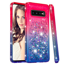 Jewelled For Samsung Galaxy S10 Case Gradient Quicksand Cases Fashion Girl Phone Cover