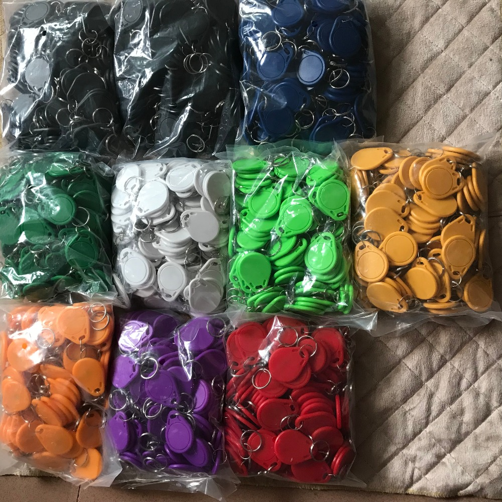1000pcs/lot Rfid Keychain Chip 13.56mhz Proximity Nfc Tags 213 Keyfobs Tag For All Nfc Products