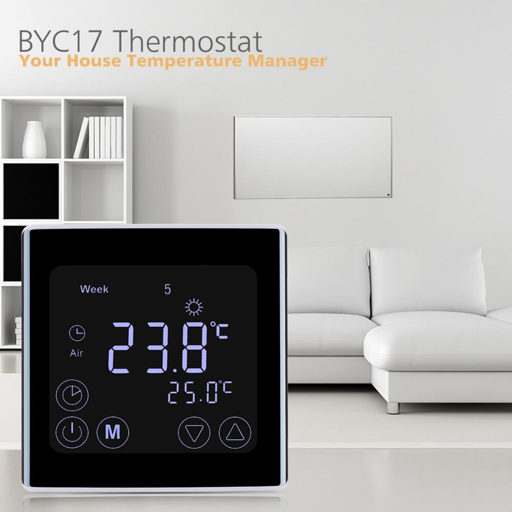 Underfloor Heating Temperature Settings: Floureon LCD Touch Screen Room Temperature Controller