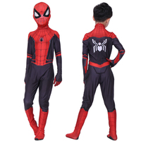 New Spider Man Far From Home Cosplay Costumes Peter Parker Zentai Suit Bodysuit Kids Spiderman Superhero Ball Jumpsuits