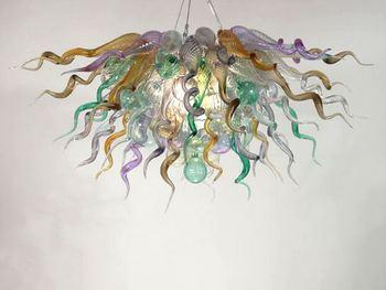 Turecki styl kolorowe dmuchanego szkła wiszące łańcuch nowoczesne kryształ dekoracyjne żyrandol