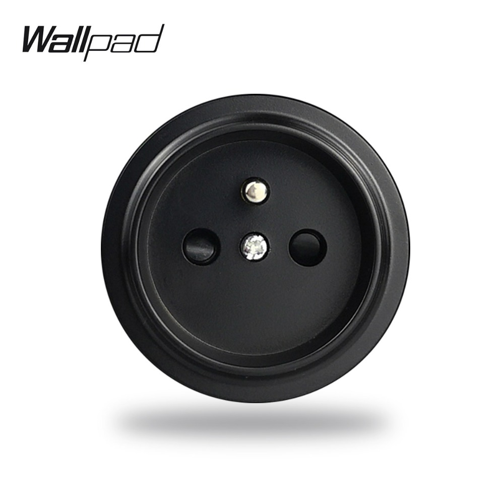 L6 DIY Free Combination French Wall Electrical Power Socket Black White Grey Gold Modular