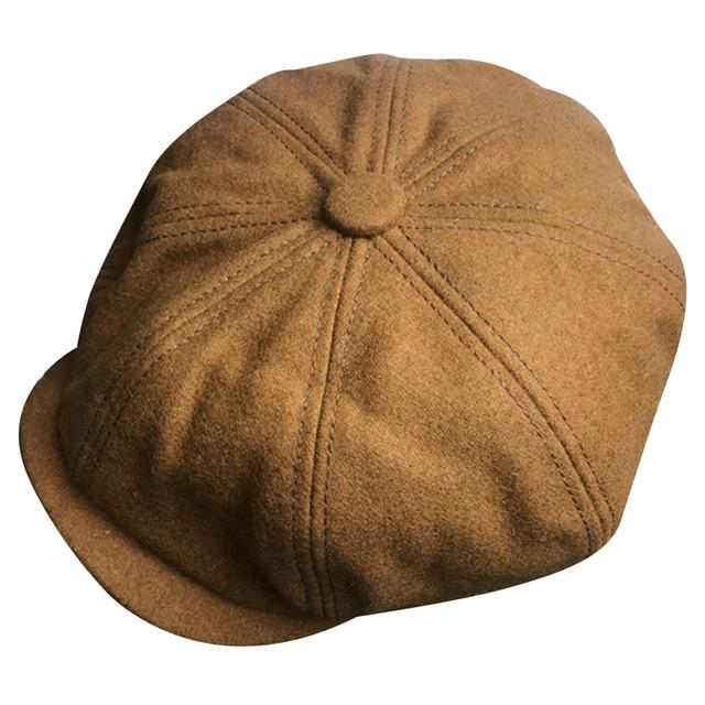 414013f42b6e91 Minakolife Wool Tweed Men Women Newsboy 8 Panel Flat Cap Spring Autumn  Breathable Gatsby Ivy Cabbie Hat