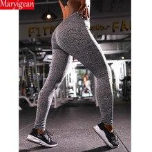 Maryigean 2019 Fashion Push Up Leggings Women Workout Slim Polyester V-Waist Jeggings Pencil Pants