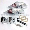 Motocicleta de Spike Air Intake Cleaner Filtros Kit Para Suzuki Boulevard M109 M109R Cromo Boleto Chrome Cone Filtros de Entrada de Ar