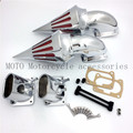 Motorcycle Spike Air Cleaner Intake Filters Kit For Suzuki Boulevard M109 M109R Chrome Chrome Billet Cone Air Intake Filters