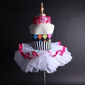Image 5 - תמיכה ריקוד בנות נשים צבעוני הלטר בלט טוטו שמלת ילדים למבוגרים ריקוד תלבושות Vestidos C112