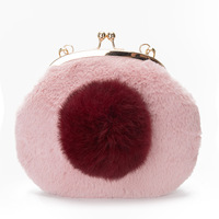 Faux Fur Plush Children Organizer Wallets Women Small Coin Purses Chain Bags Female Money Pouches Carteiras