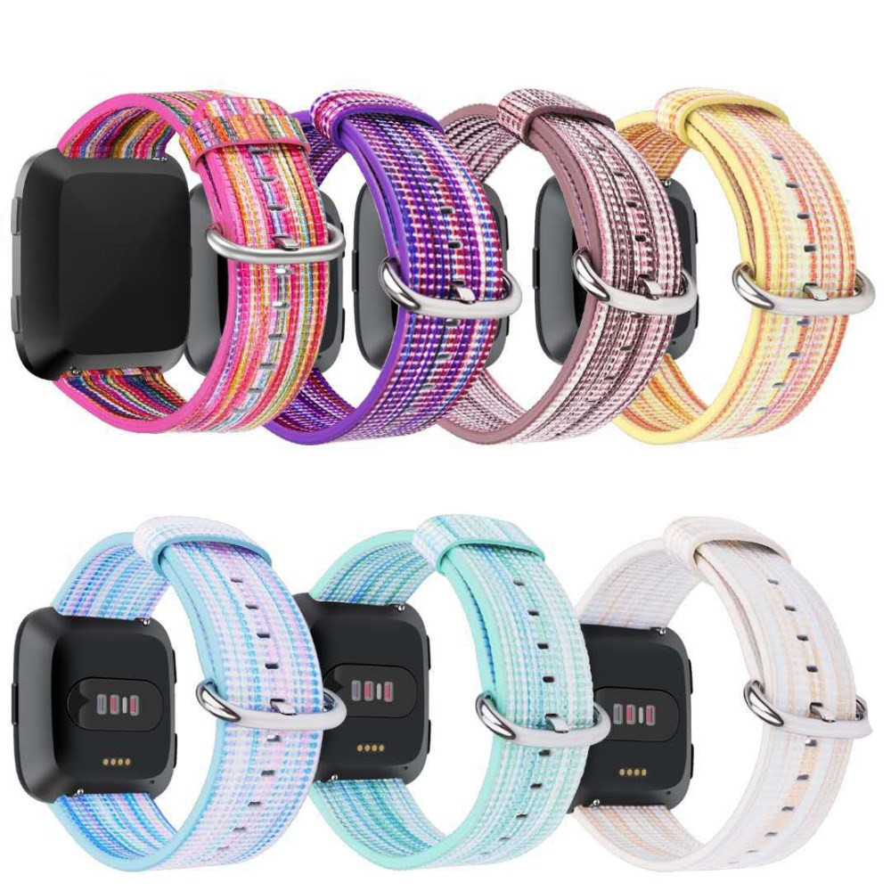 HIPERDEAL Fine Woven Nylon Adjustable Replacement Band Sport Strap For Fitbit Versa 6J5 Drop Shipping