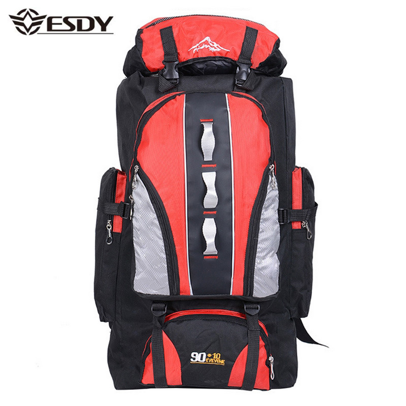 Newest 100L Travel Backpack Mountain Bag Outdoor Sports Hiking Camping Climbing
