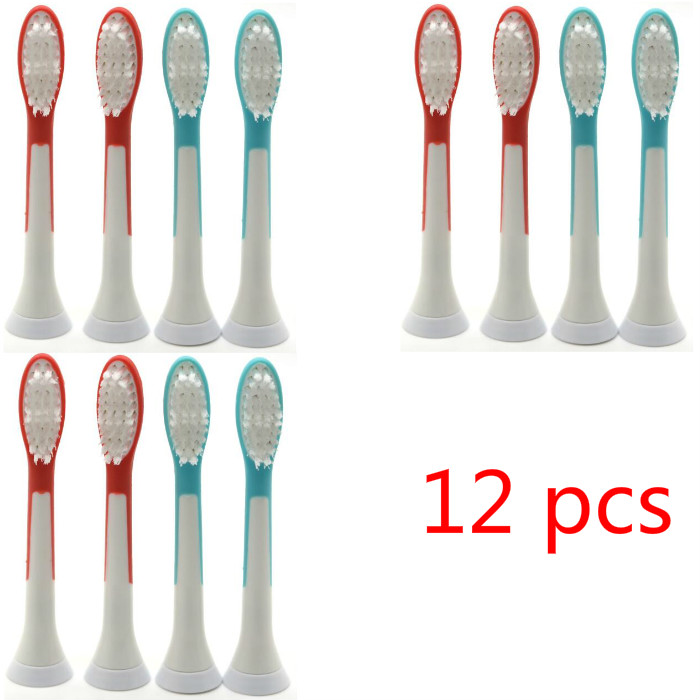 12 pcs HX6024 Generic Electric Sonic Replacement Brush Heads Fits For Philips Sonicare Toothbrush Heads Compact Soft Bristles image