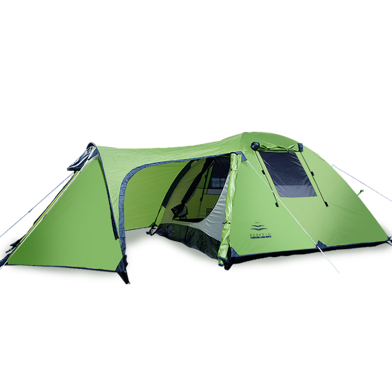 2-3-4persons family tent double layer 1 bed room and 1 living room waterproof mountain camping tent 380 * W 220 * H 120cm2-3-4persons family tent double layer 1 bed room and 1 living room waterproof mountain camping tent 380 * W 220 * H 120cm