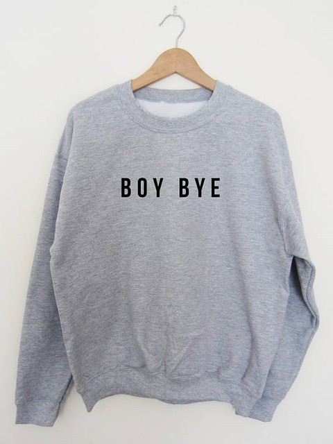 BOY BYE Unisex sweatshirt Lemonade Ashes to Ashes tumblr moletom jumper women casual tops Super Soft sweatshirt hoodie