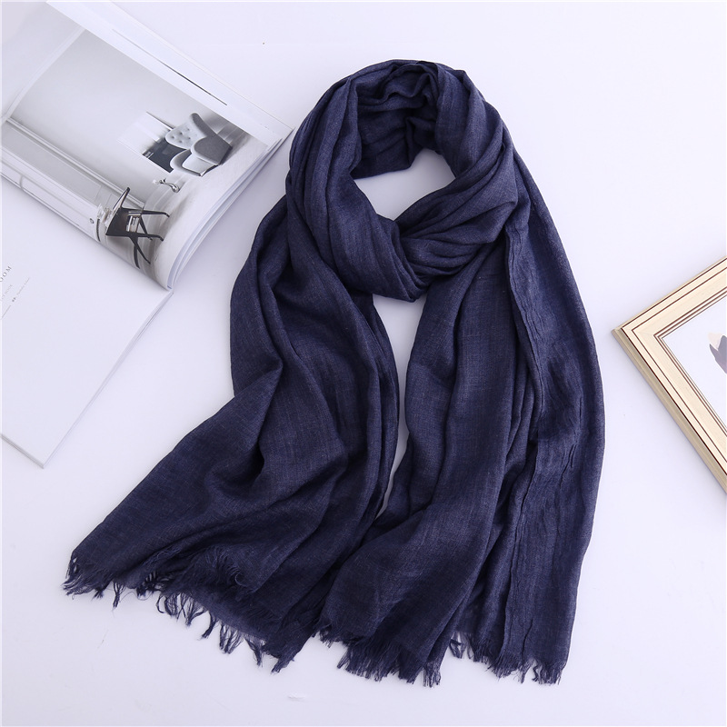 2019 New Arrived Women Scarf Solid Cotton Scarves Lady Shawls And Wraps Big Size Pashmina Female Hijab Warm Winter Scarf Stoles