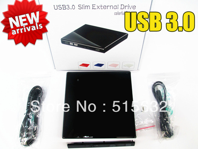 USB 3.0 Super speed External Slim CD/DVD Drive Enclosure Case For Laptop Notebook CD-RW DVD Drive