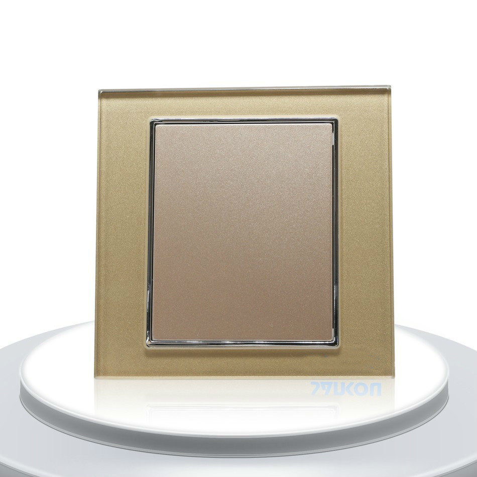 single glass panel for wall switch sockets luxury golden crystal glass 86mm 86mm uk standard glass panel Single Glass Panel For Wall Switch Sockets Luxury Golden Crystal Glass 86mm*86mm UK standard Glass Panel