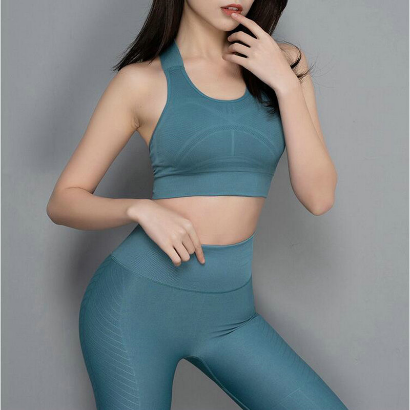 2 Piece Women Sport Suit Gym Yoga Sets Women Tracksuits Fitness Running Gym Sportswear Female Slimming Workout Clothing Seamless