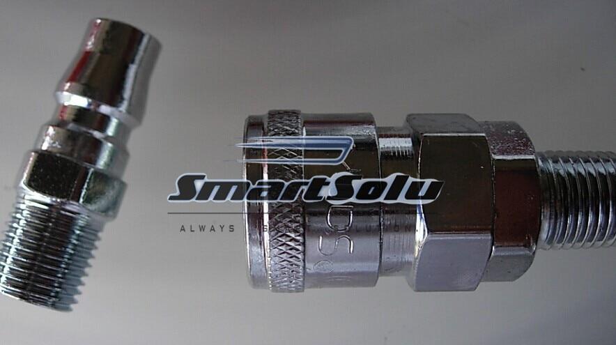 1//2BSP Male Air Compressor Pneumatic Quick Coupler Connector Socket Fittings Set