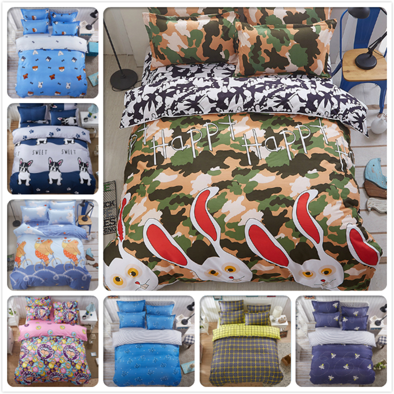 Solstice Stylish Cartoon Xmas Striped Plaid 3/4pcs Bedding Set Duvet Cover Bed Sheet Pillowcase Bedclothes Child Kids Bedlinens